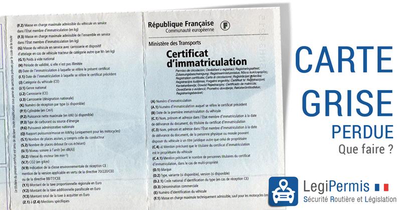 demande de carte grise prefecture Demande de carte grise sur Lille en ligne pour le département 59
