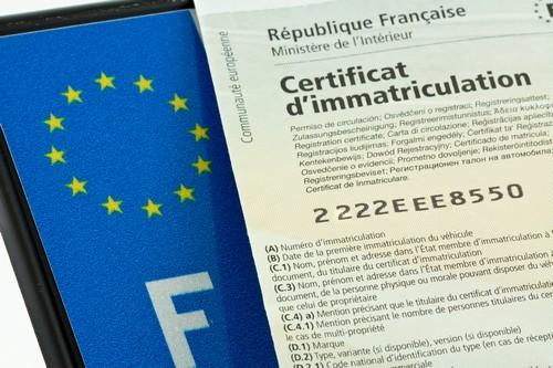 Certificat de conformité voiture importée pour faire la carte grise française