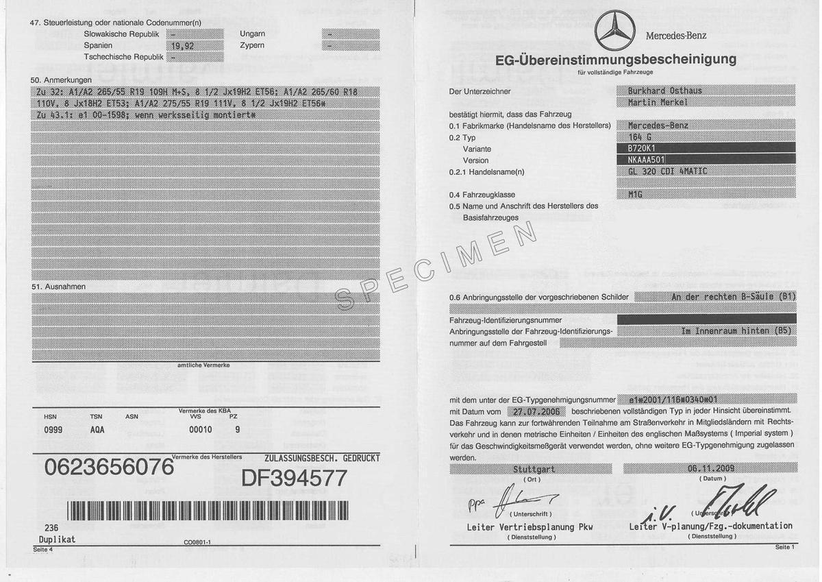 Comment faire pour obtenir le Certificat de Conformité Mercedes