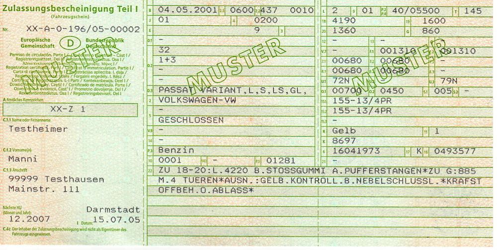Comment immatriculer une voiture allemande en France.